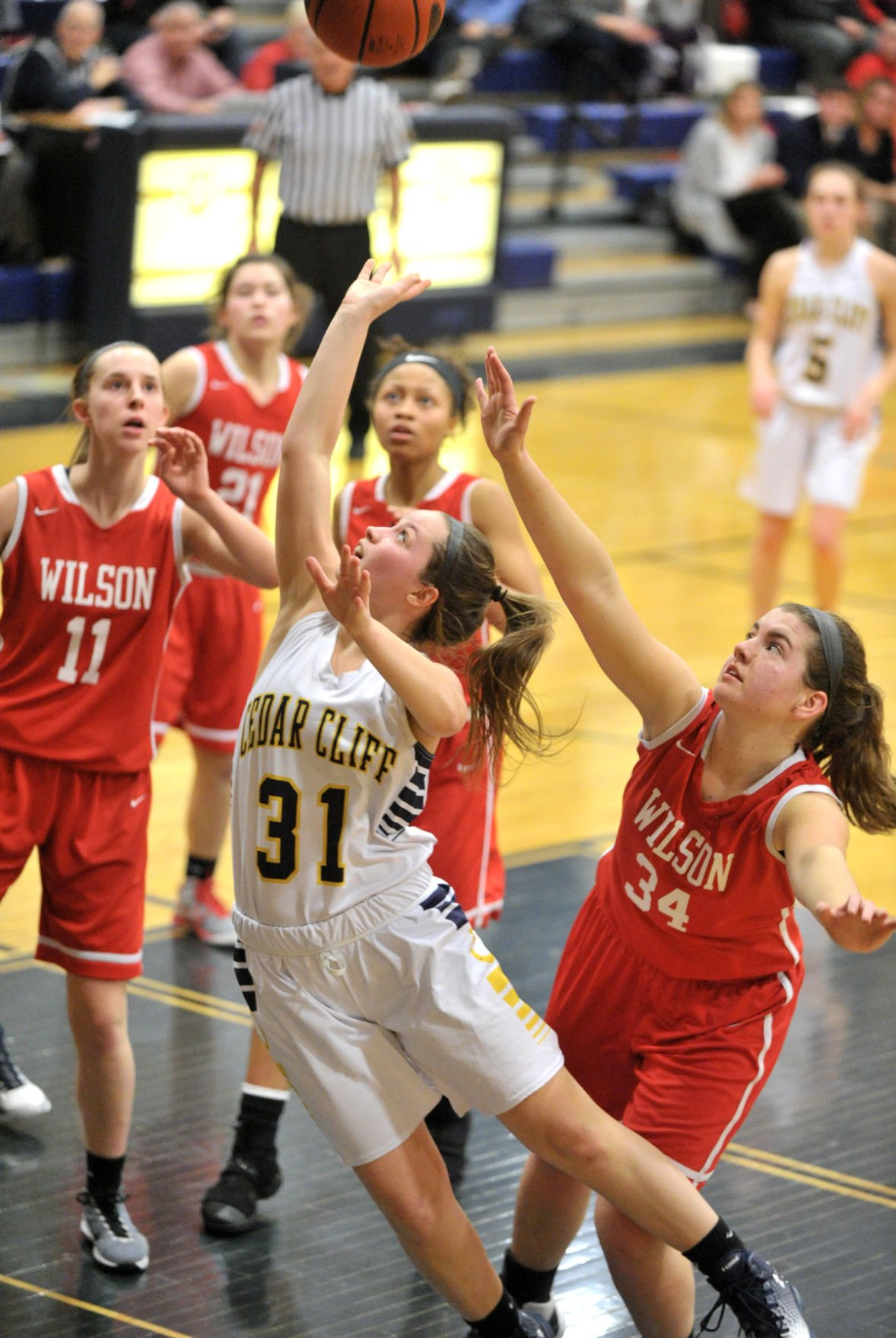Girls Basketball Wilson at Cedar Cliff, Feb 20, 2017 (copy)