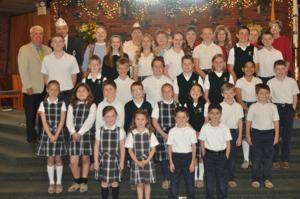 Saint Patrick School students who won the local AMVETS Americanism Essay and Poster Contest