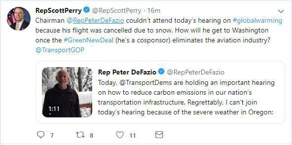 Perry snow tweet