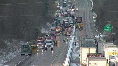 Fatal 50-vehicle crash shuts down I-83 in York County