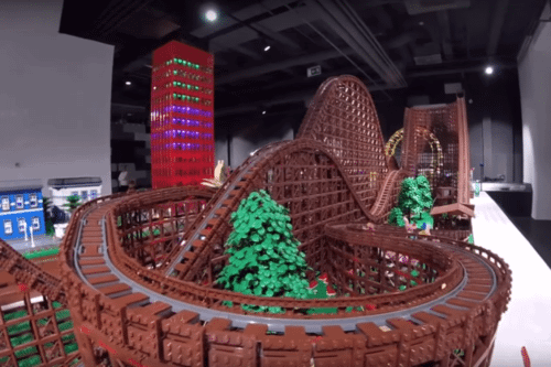 Take A Virtual Ride On This Unbelievable 90,000-Piece LEGO Roller Coaster