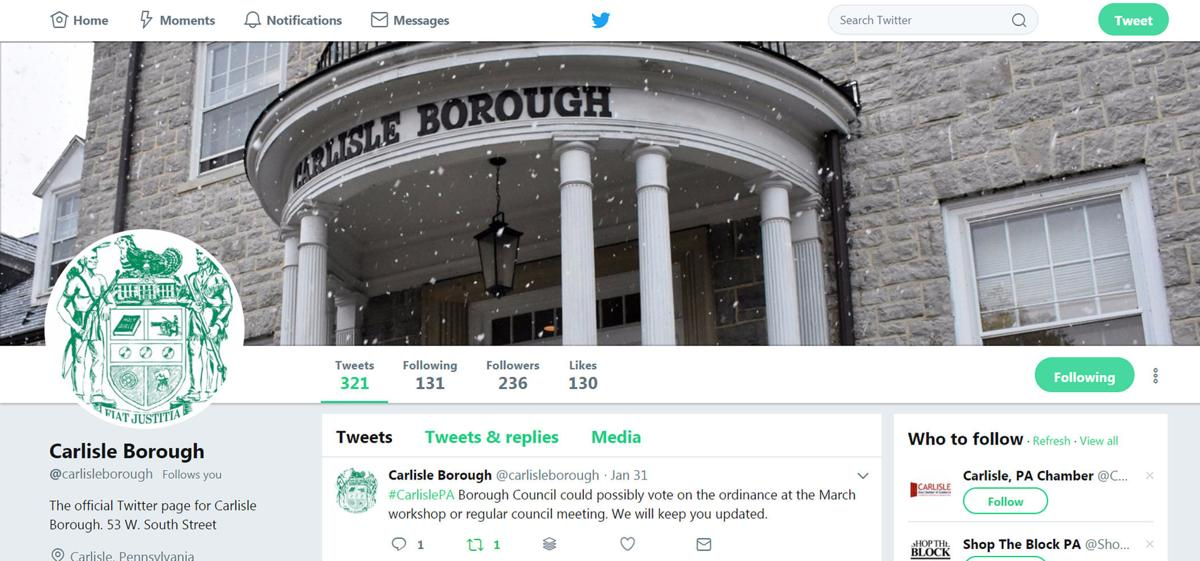 Borough of Carlisle Twitter Page