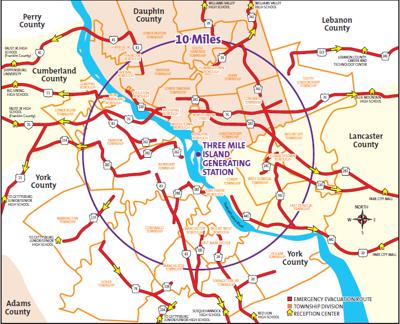 TMI Radius Map