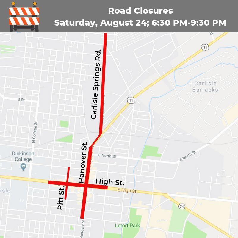 Corvette road closures