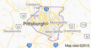 Allegheny County, Pa., map
