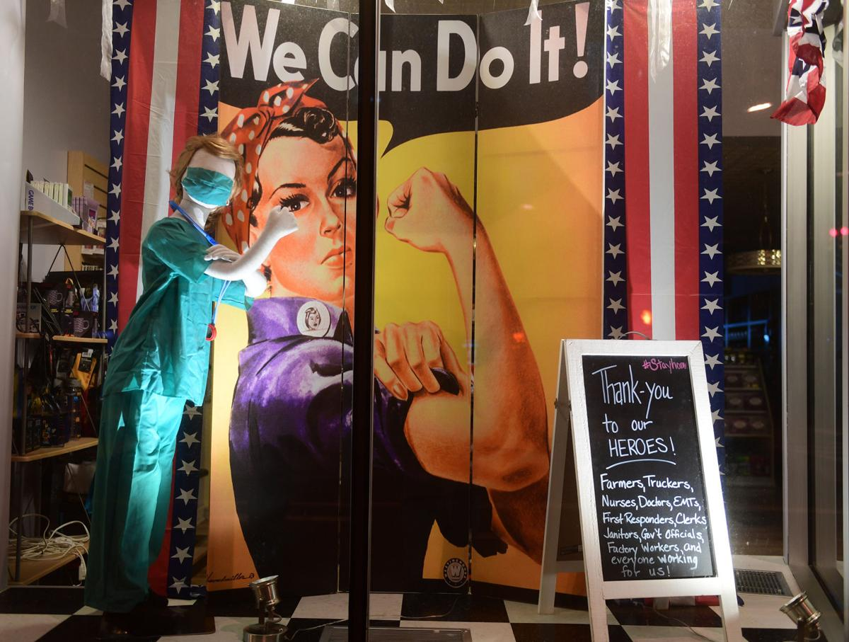 Georgie Lou's Retro Candy Heroes Window Display