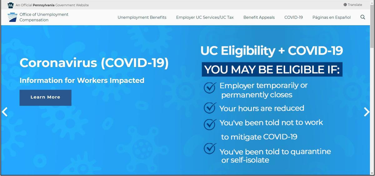 Pennsylvania Office of Unemployment Compensation website