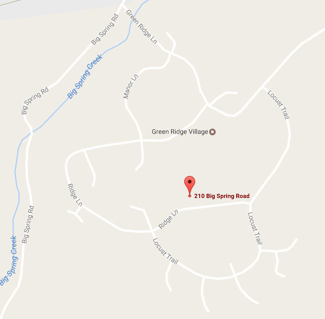 Green Ridge village map - web only