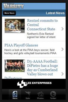 app sports screen shot