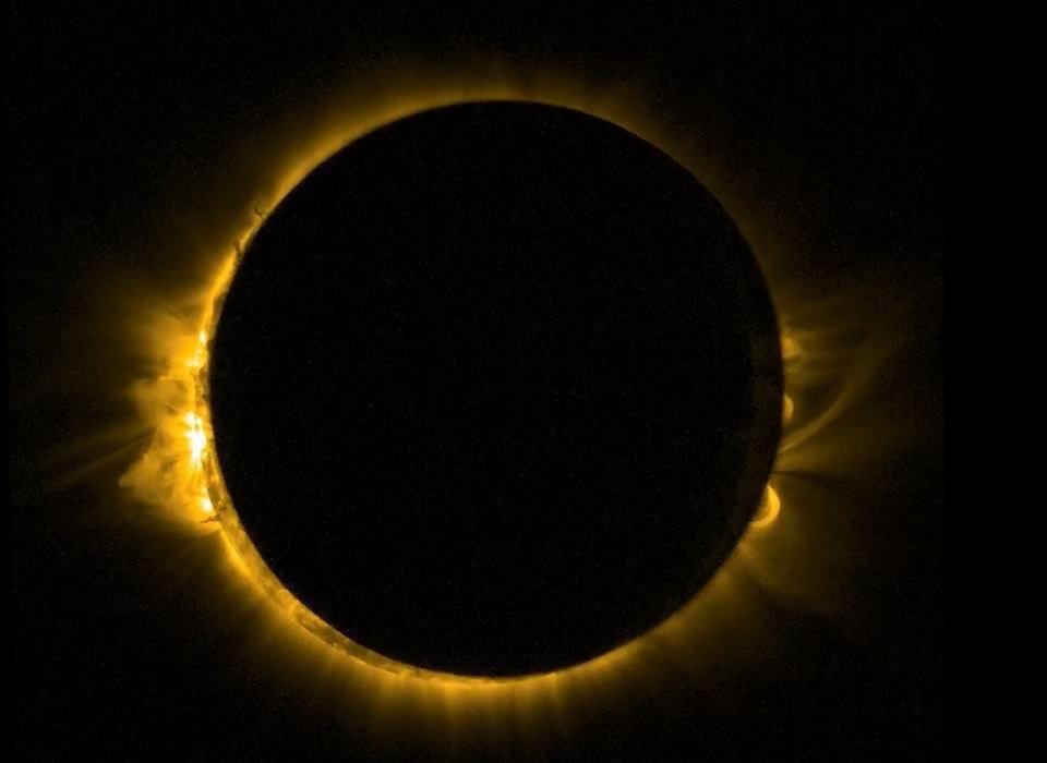 Total eclipse of the sun