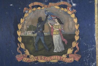 Black Union Troops Historic Flag