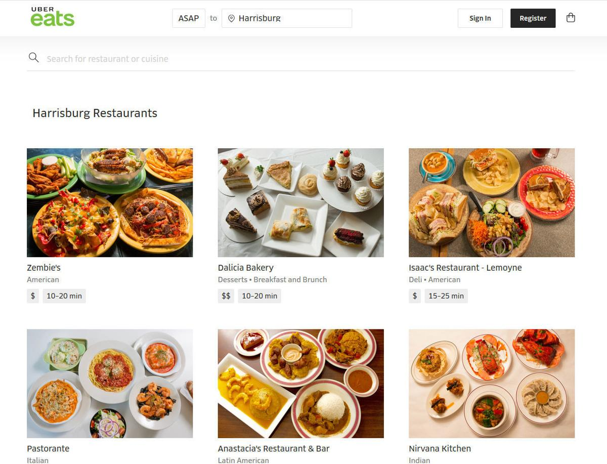 Uber Eats launches restaurant delivery in West Shore, Harrisburg ...