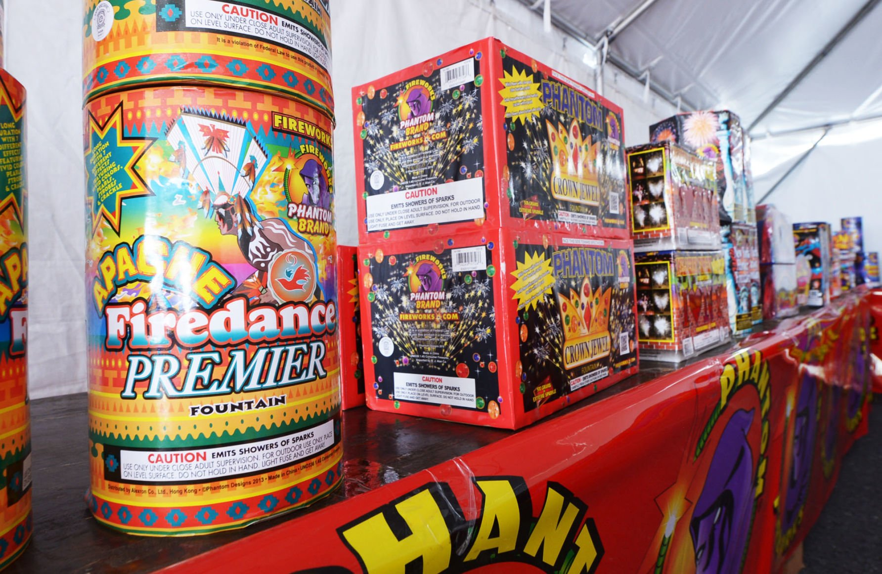 A Phantom Fireworks tent sells an assortment of fireworks in H&den Township in 2016. & Court decision limits fireworks sales from roadside tents | State ...