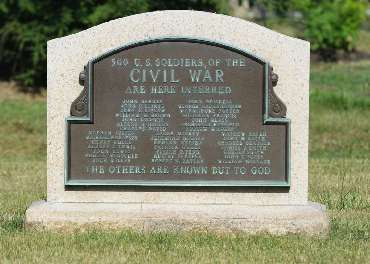 Mass gravesite at Ashland Cemetery