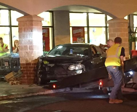 Car Crashes Into Support Column At Giant In Carlisle The
