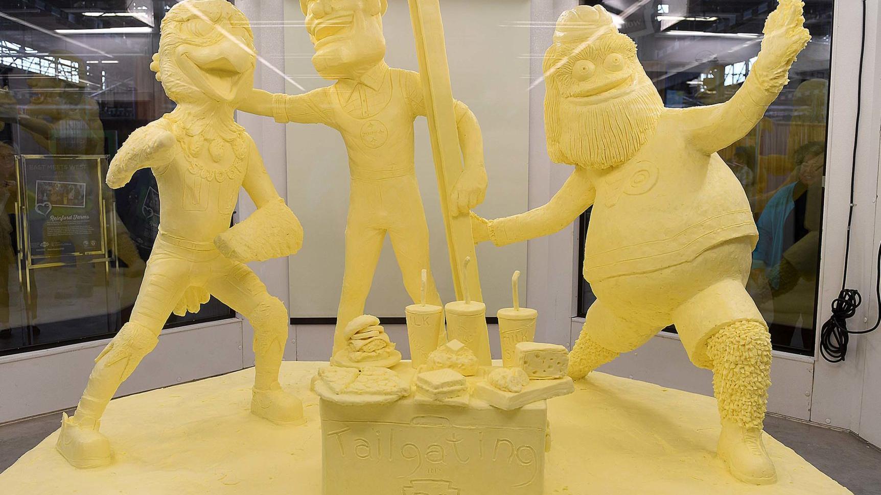 New Farm Show butter sculpture features Gritty, pro-sports mascots | The  Sentinel: News | cumberlink.com