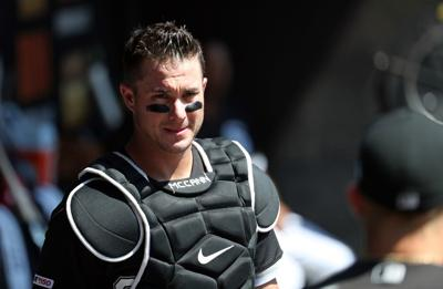 Chicago White Sox catcher James McCann before a game Thursday, Aug. 29, 2019, at Guaranteed Rate Field in Chicago.
