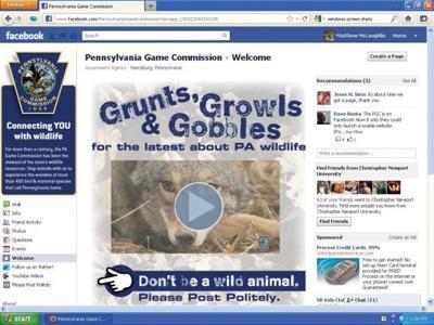 Pennsylvania Game Commission unveils social media sites