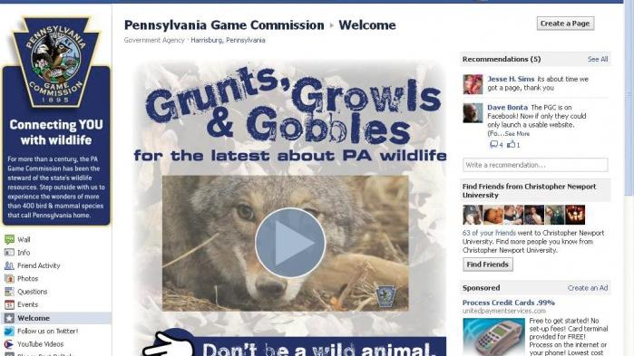 Pennsylvania Game Commission unveils social media sites