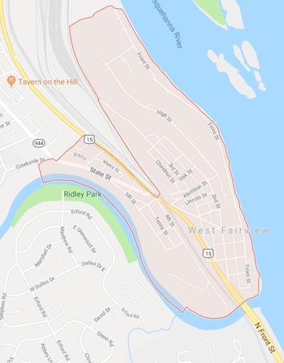 West Fairview map