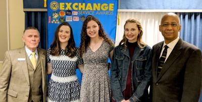 Exchange Club students