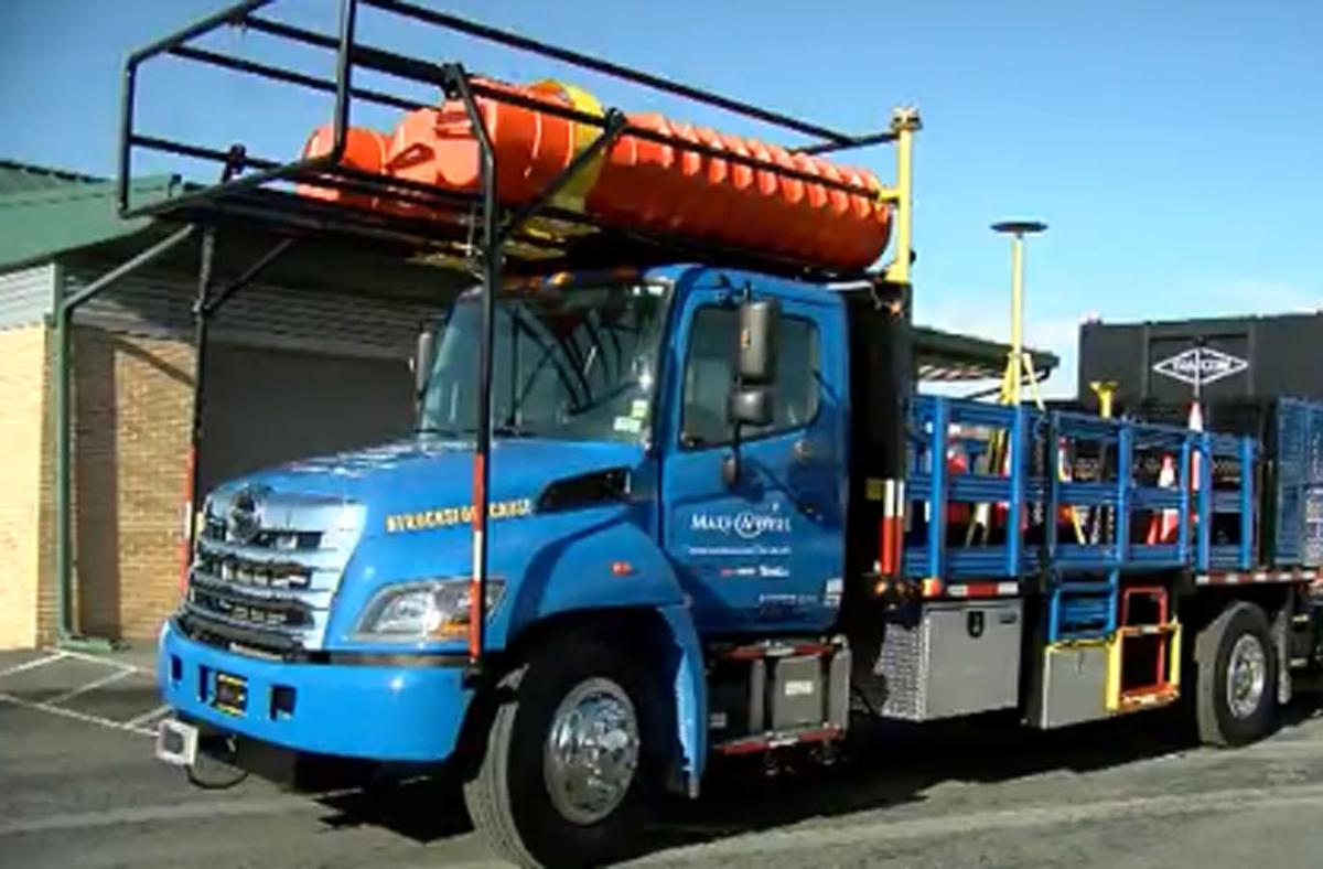 Autonomous work zone truck
