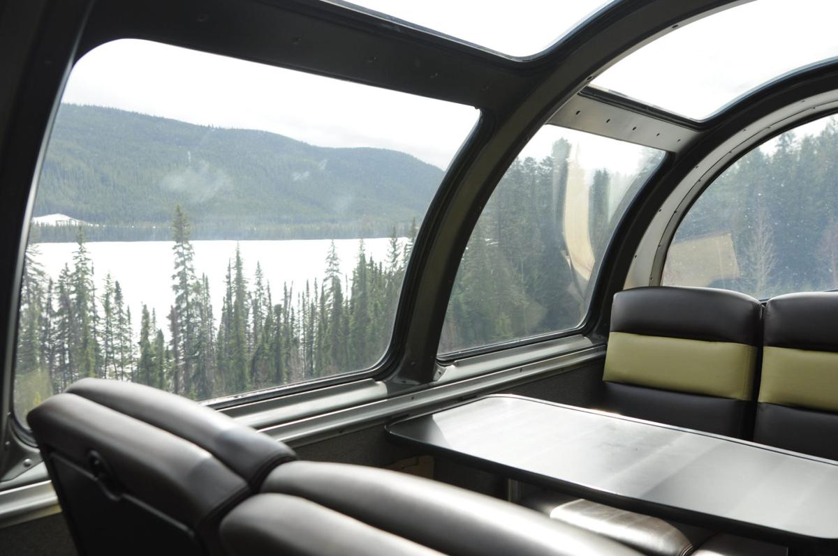 View from a Skyline Dome car.