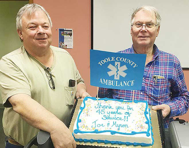 Hemmer and Frydenlund recognized for 45 years of dedication and still counting