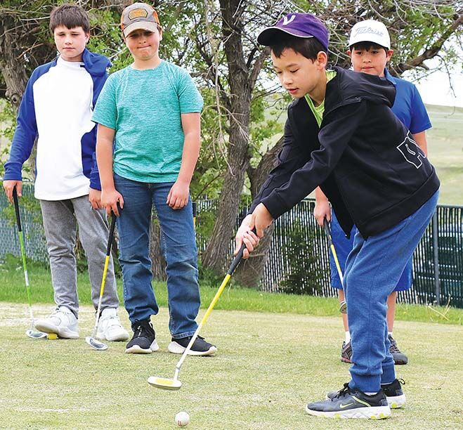 Over 50 youngsters tee off at Junior Golf Clinic at Cut Bank Golf & Country Club