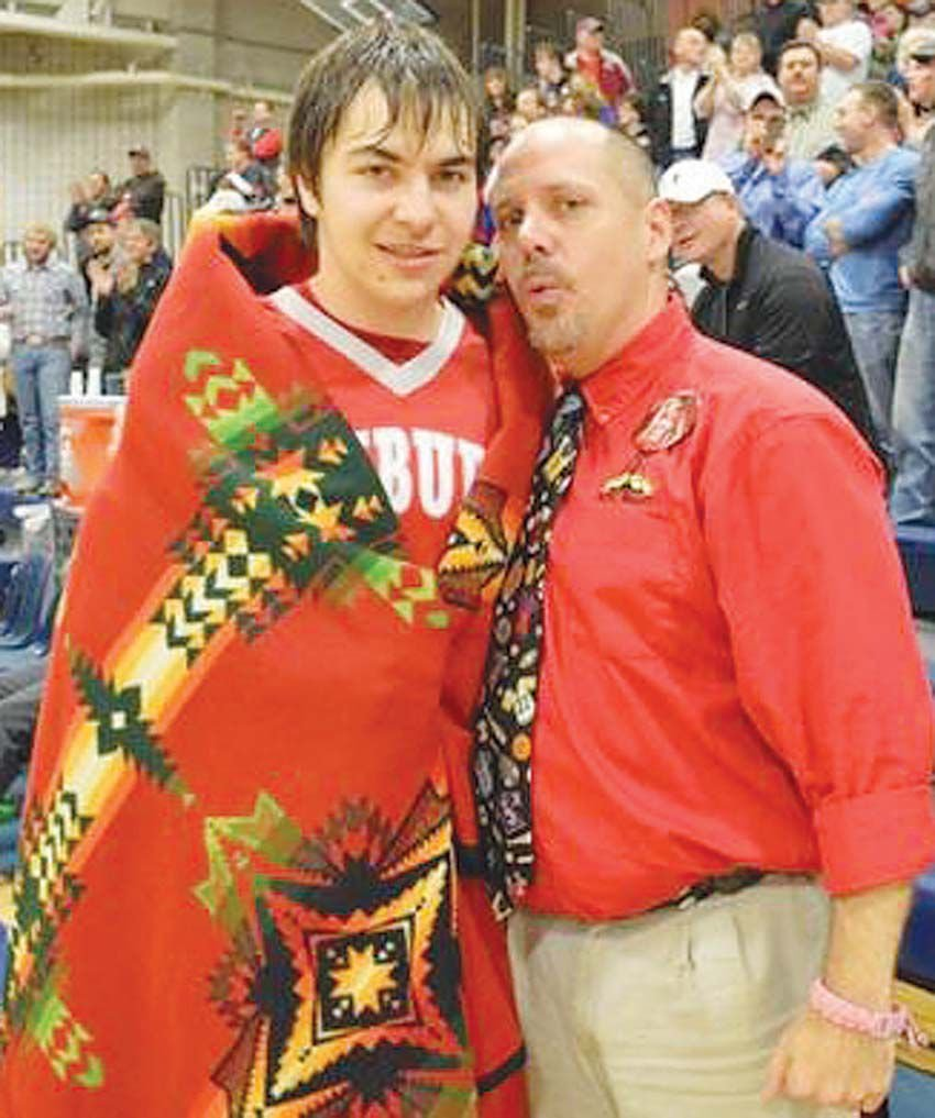 Montana toole county sunburst - North Toole County High School Principal And Sunburst Schools Superintendent Tim Tharp Right Pictured With Son Tyler Is Bidding North Toole County A Fond