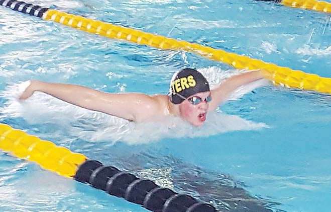 Water Otters host meet, earn second place boast & two high point winners