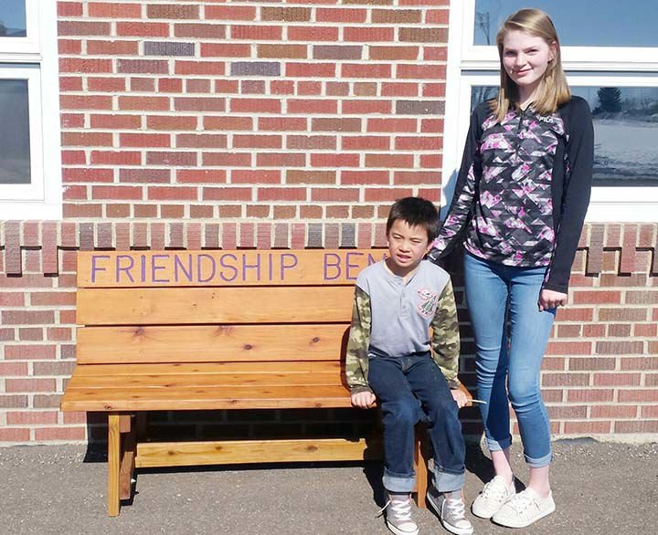 Bench helps Bock teach students about friendship, communicating