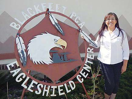 Carrie Bearchief-Evans gives her all at Eagle Shield Senior Center