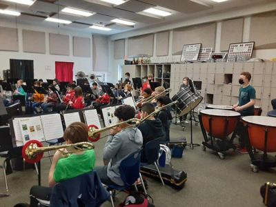 Middle school band instructors and students adjust during unusual year; concert is Tuesday