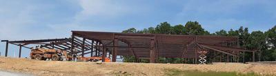 Riverbend Park gym under construction; park expected to open before the end of the year