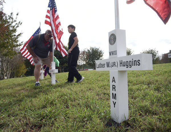 Flags and crosses honor veterans in Murray County