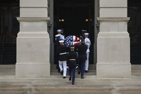 Mourners gathered at Georgia Capitol to say goodbye to John Lewis