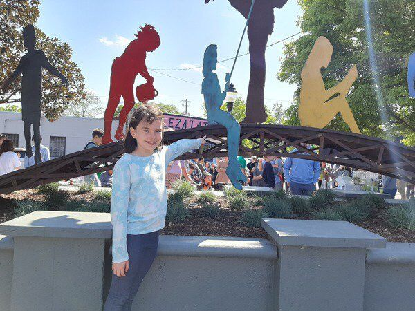 Bridging the gap: Sculpture unveiled on East Morris Street