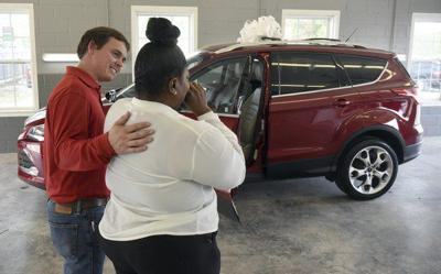 Donated vehicle to help propel domestic violence survivor forward
