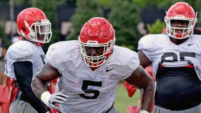 UGA defensive players working on consistency at camp