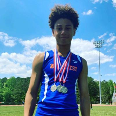 Northwest's Griffin takes home 3 individual titles at region track and field championships; Smith earns 1