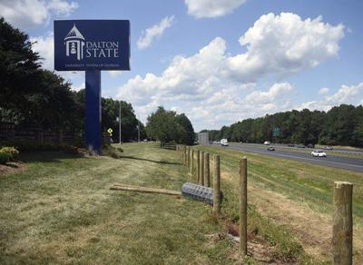 City, college officials welcome new fence going up on I-75 near Dalton State