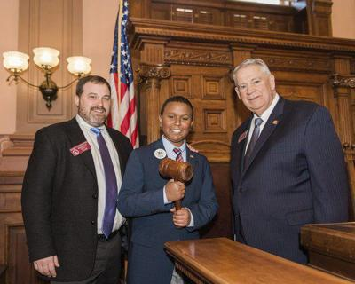 North Whitfield Middle School student serves as state legislative page