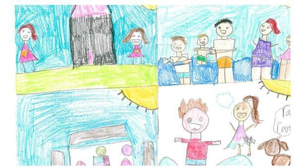 Cohutta Elementary student wins art contest for her scenes from pandemic life