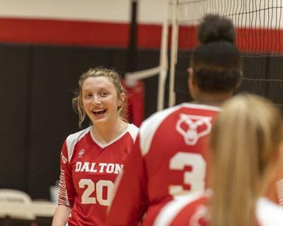 Ridley sets Dalton volleyball record
