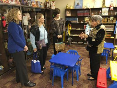 Historical society tours Emery Center
