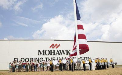 Mohawk Industries honors employees and celebrates its American heritage with giant flag