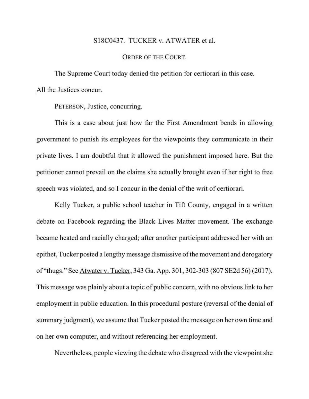 Tucker v  Atwater decision   Ga Fl News   dailycitizen news