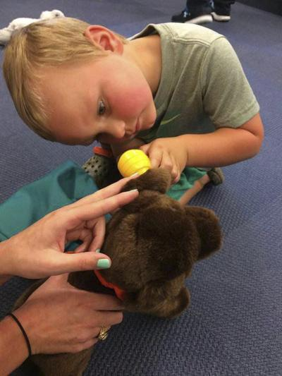 Kids can try their hands at being a veterinarian Monday night at the library