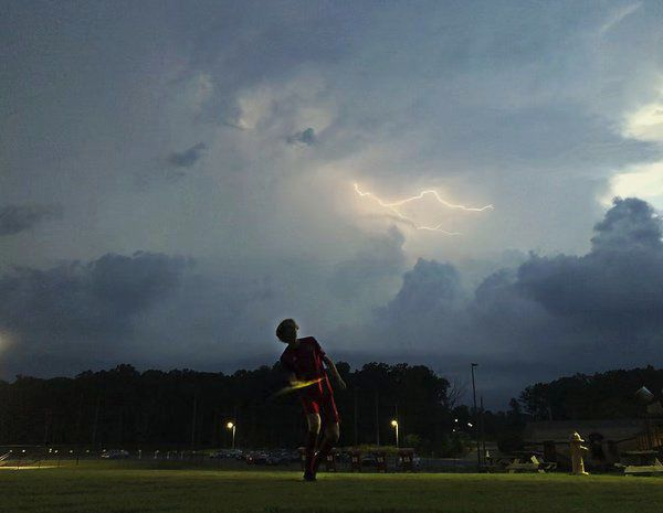 Flash mob: Dalton Red Wolves earn win after final home game halted by lightning